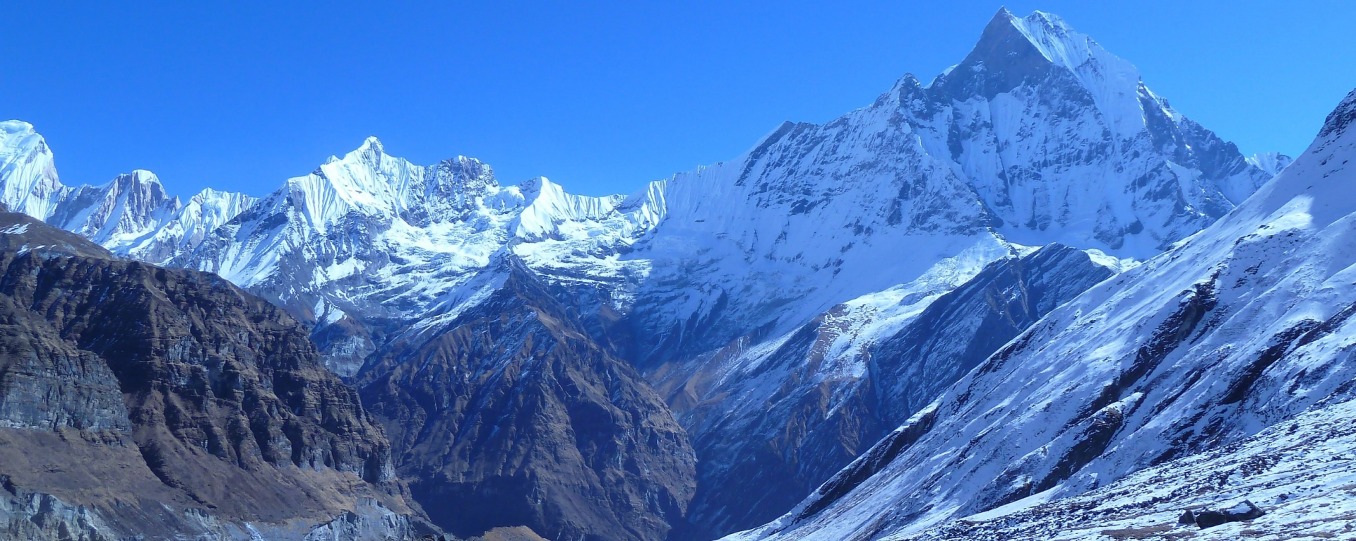 The view of Machhapuchre mountain from ABC(4130m), Nepal