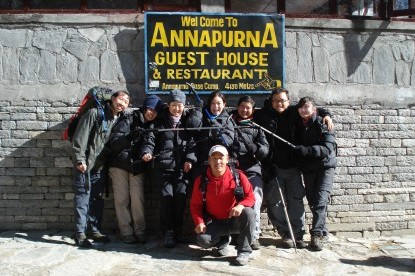 BNT Annapurna BC group reaching the Base Camp.