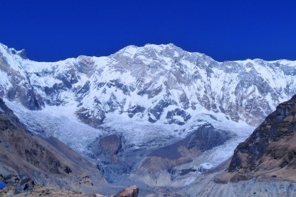 The towering peak of Annapurna I(8091m).