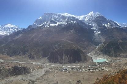 Annapurna II, Annapurna III and Gangapurna from Manang