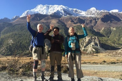 BNT American clients on enjoying the trek to Annapurna circuit.
