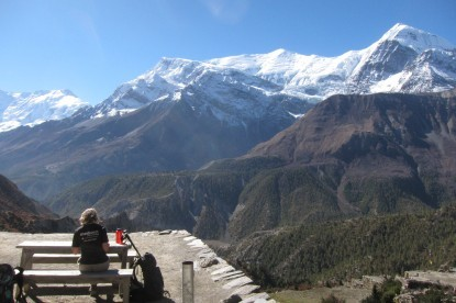 Nice spot at Yak kharka for the spectacular view.