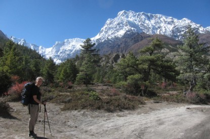 Our clients enjoying trekking in the Annapurna circuit