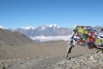 The highest pass in the Annapurna circuit is Thorong La pass(5416m)