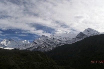 The Annapurna and Gangapurna mountain ranges.