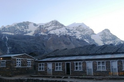The lodge situated  at Thorong Phedi(4450m)