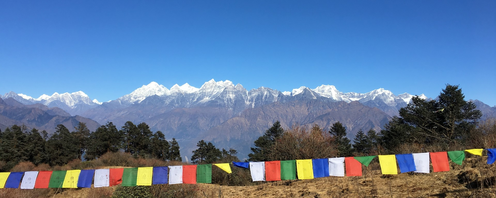 Panoramic mountains view from Kemje Danda.