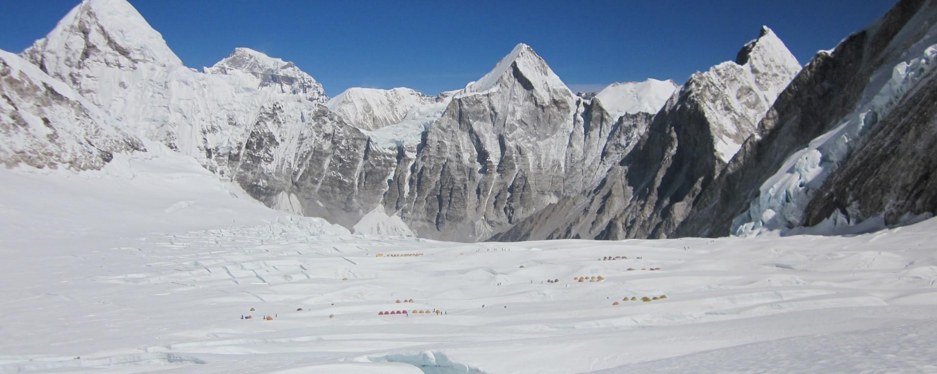 Camp II of Mt. Everest climbing trip
