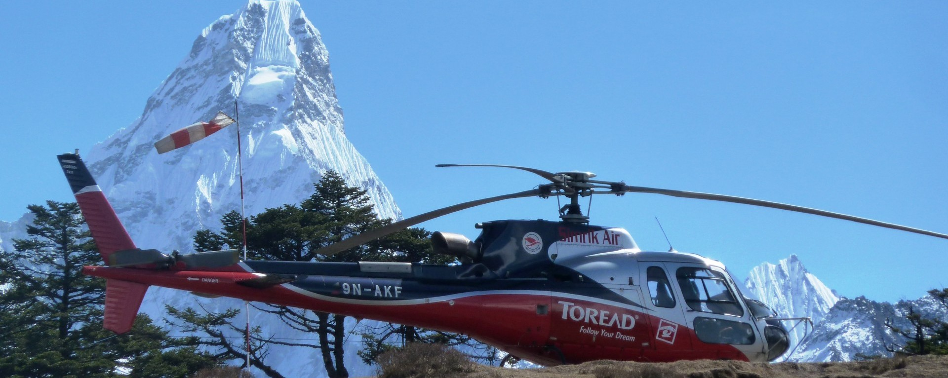 Landing at Everest view hotel for breakfast.