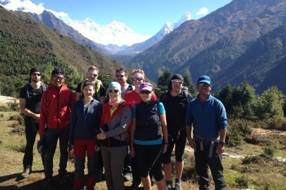 Our team of Everest high pass and island peak climbing,2014