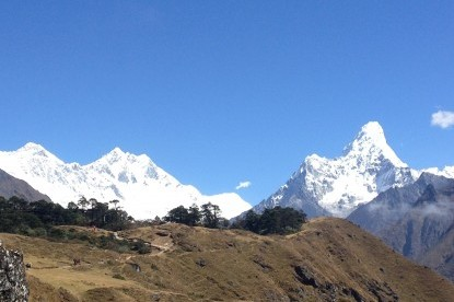 Glimpses of Mt. Everest, lhotse and Amadablam.