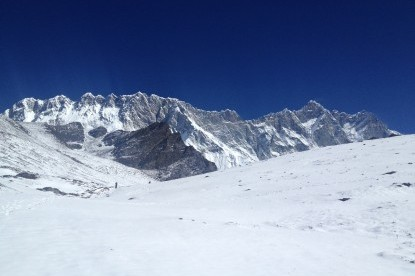Lhotse and Nuptse walls seen from Chhukung.