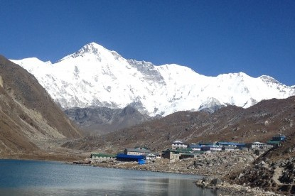 Gokyo lake on the lap of Mt. Cho-Oyu(8201m)