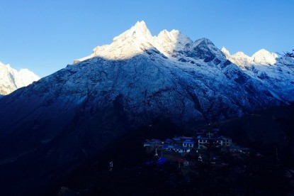 Tengboche monastery with Khumbi Yulha on the background.