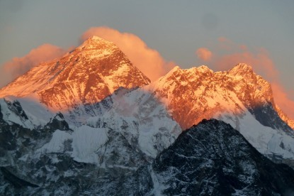 Sunset view over Mt. Everest and Lhotse(Gokyo Ri)