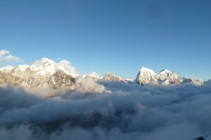 The view from top of Gokyo Ri.
