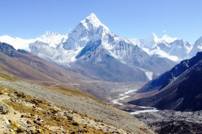 Beautiful Pheriche valley with Amadablam.