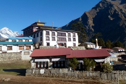 Beautiful monastery of Tengboche.