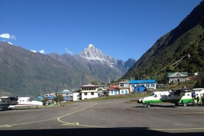 Lukla airport, the gateway to Everest Base Camp.