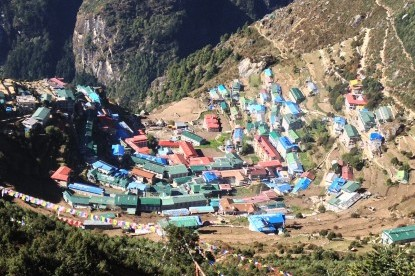 Namche bazaar, the sherpa capital and gateway to Mt. Everest