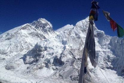 The view of Mt. Everest from top of Kalapatthar (5545m).