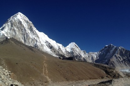 Overlooking to Mt. Pumori, Kalapatthar and EBC from Gorakshep