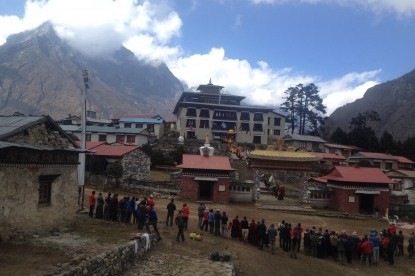The famous Buddhist monastery of Tengboche