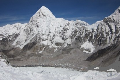 The Mountain views from the Everest camp II