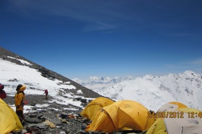 South col of Everest