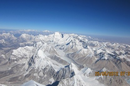 The view from Top of Mt. Everest