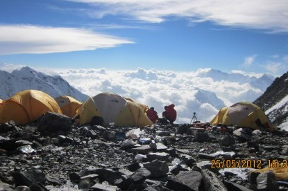 Camps at south col