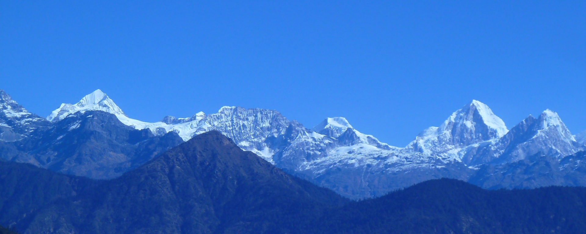 Langtang mountain ranges view from Helambu.