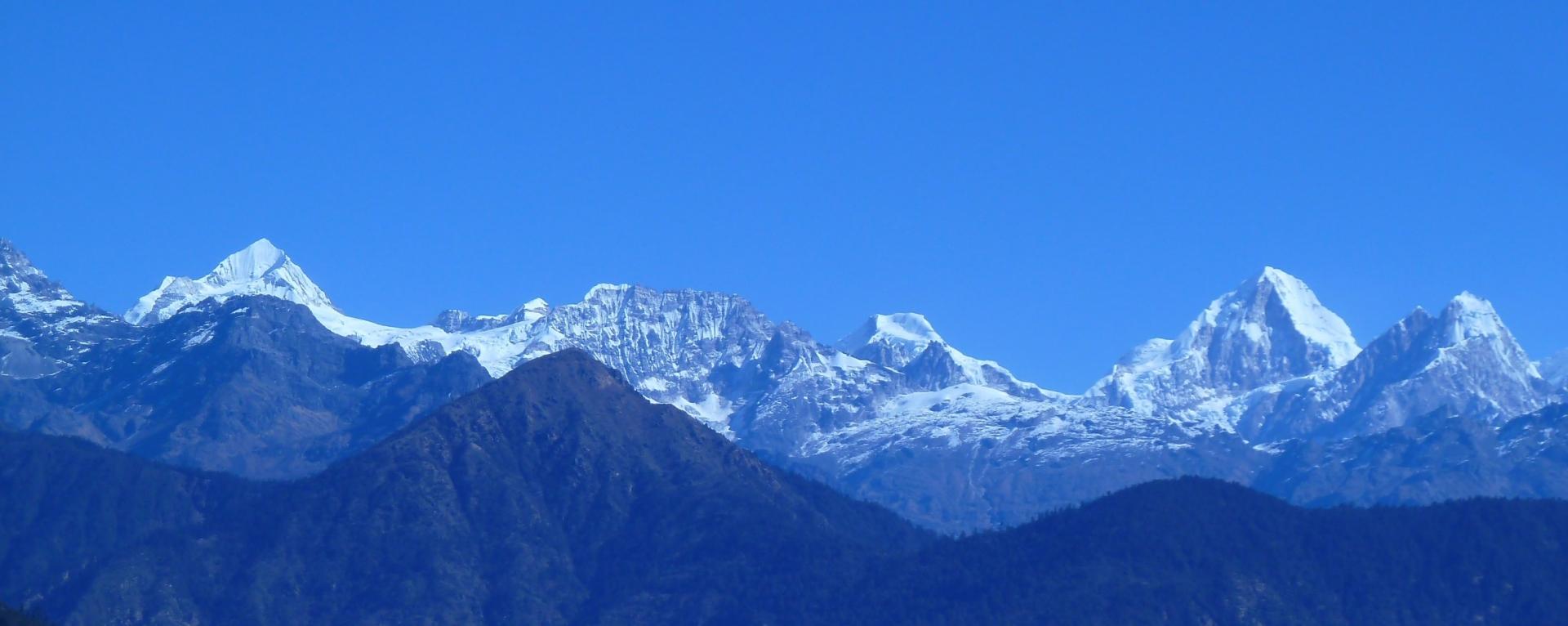 Langtang mountain ranges view from Helambu.
