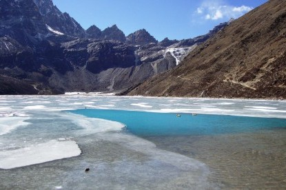 Gokyo lake with Renjo Pass.
