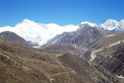 The view of Gokyo Valley from Machhermo.