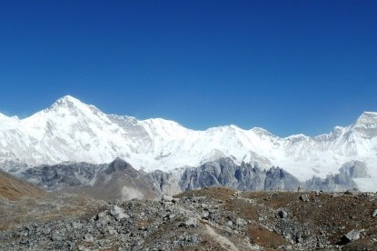 Mt. Cho-Oyu view from Gokyo village.
