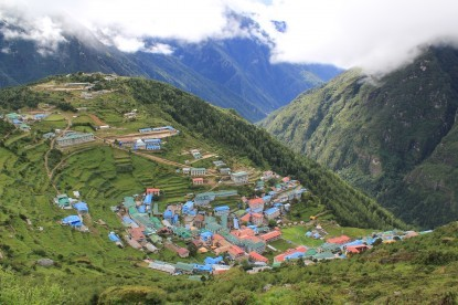 Namche Bazaar, the central hub of Everest region.