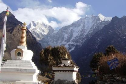 The staupa at Tengboche monastery.