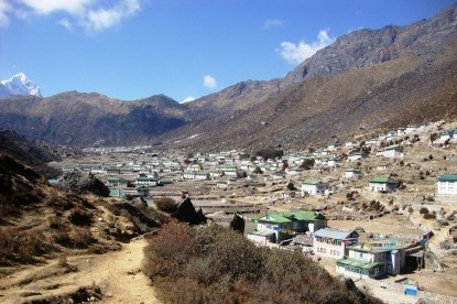 Famous Shearpa village of Khumjung at the altitude of 3790m.