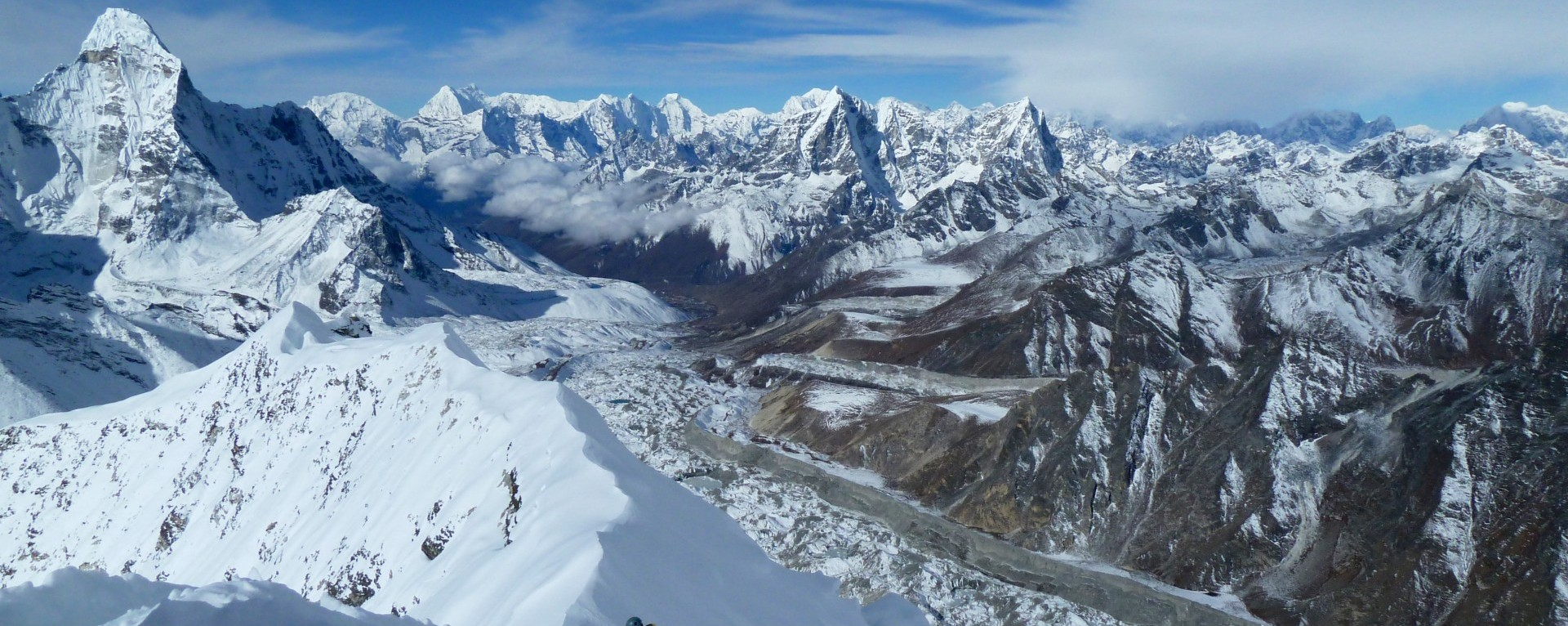 The view from top of the Island Peak, Nepal