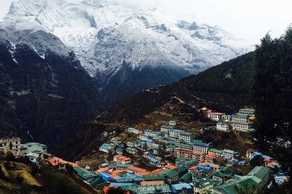 Namche bazaar(3450m) the central hub of Everest trek.