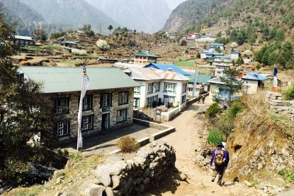 Nice Sherpa village of Ghat.