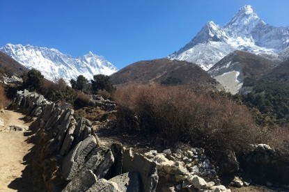Mt. Everest, Lhotse, Nuptse and Amadablam.