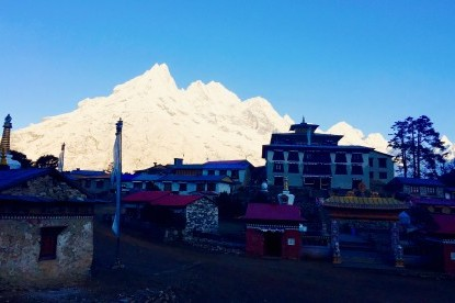 Tengboche, The biggest monastery of Khumbu valley.
