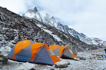 Our camps at Island peak base camp(5050m)