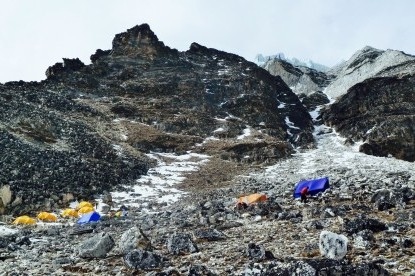 Island peak high camp(5600m)