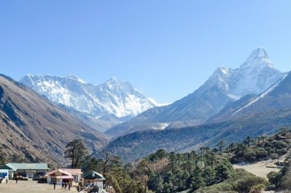 Everest panorama from Tengboche.
