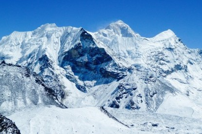 Mt. Makalu and island peak view from Chhukung Ri.