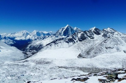 View of Tawache peak, cholatse and Pokalde.