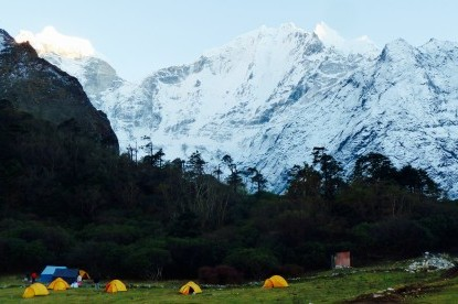 camping at Tengboche.